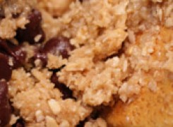 Flourless & vegan chocolate chip cookies