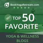 BookYogaRetreats.com Top 50 Favorite Yoga and Wellness Blogs Bagde